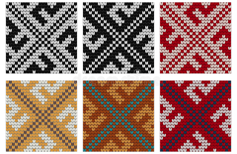 Download Set Of Swastika Knitting Seamless Patterns Stock Illustration - Illustration of abstract, icelandic: 83722142