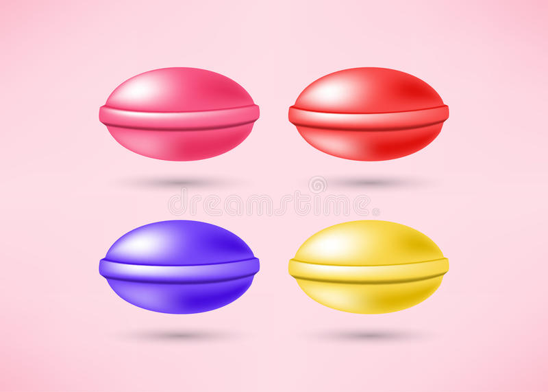 Set of sweet candies stock illustration