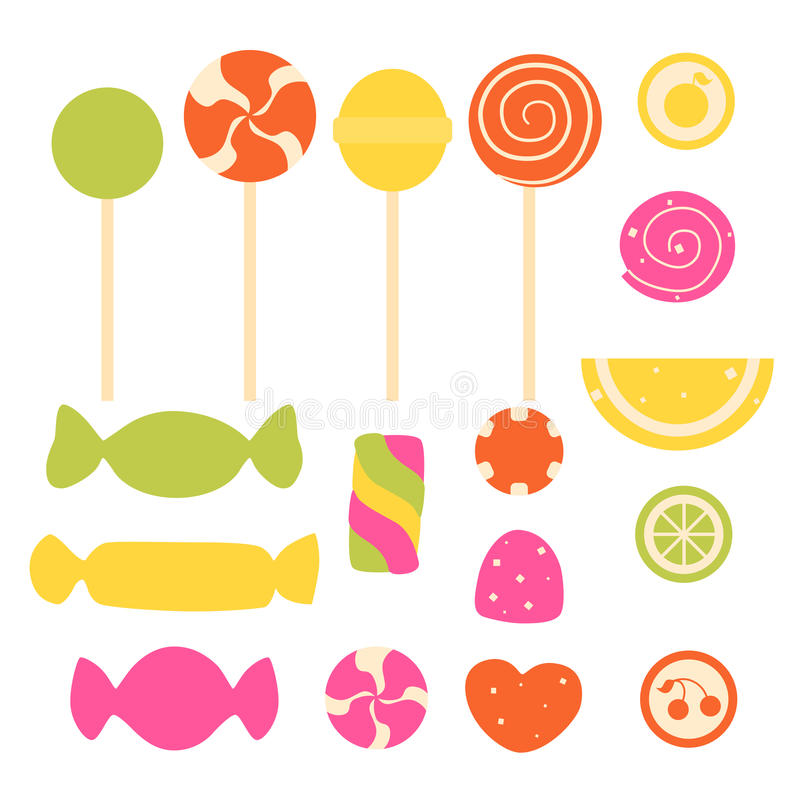 Set of sweet candy royalty free illustration