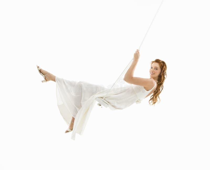 set swing för brud arkivbild