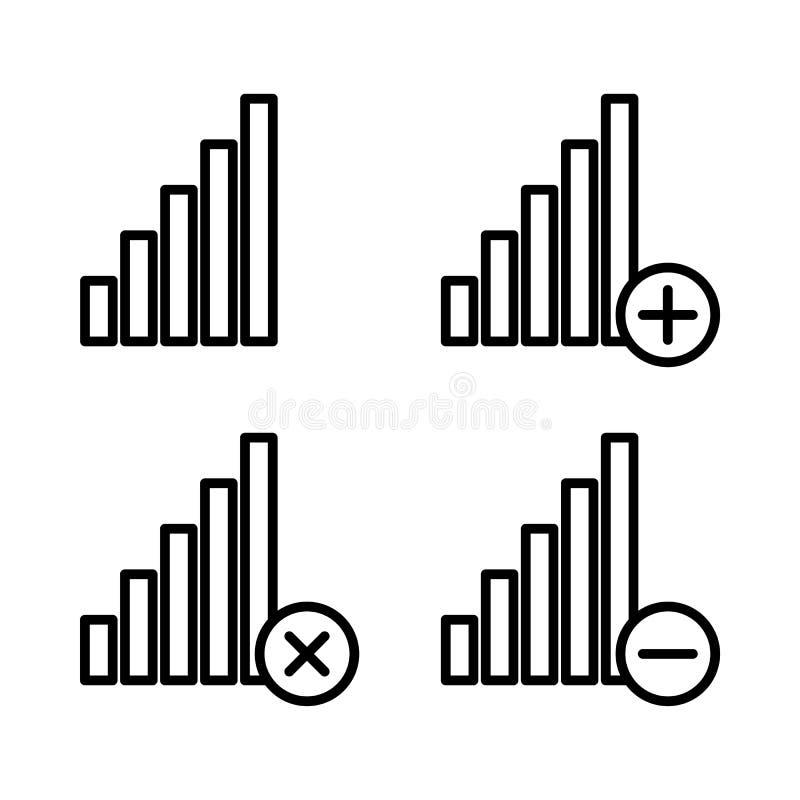 set sygnałowe ikony Element telefon ikony dla mobilnych pojęcia i sieci apps Cienkie kreskowe ikony dla strona internetowa projek ilustracja wektor