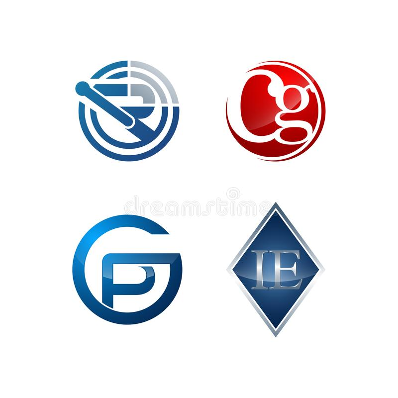 Set of symbol for Business logo design template. Collection of Abstracts modern icons for organization stock images