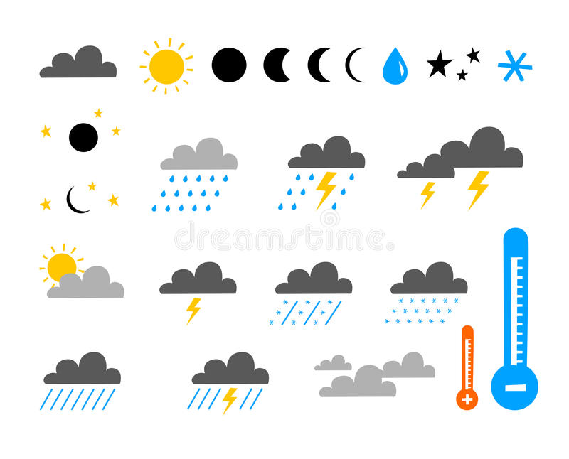 Download Set Symbol Of Weather Royalty Free Stock Photo - Image: 13579625