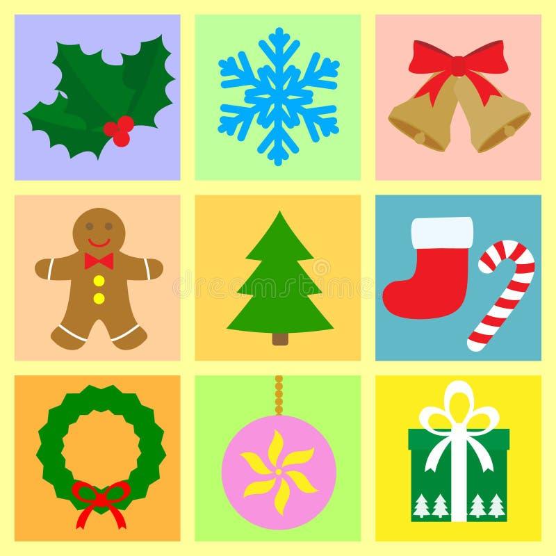 set symboler för jul royaltyfri illustrationer
