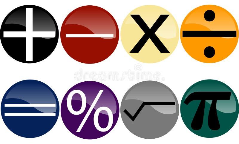 set symboler för math royaltyfri illustrationer