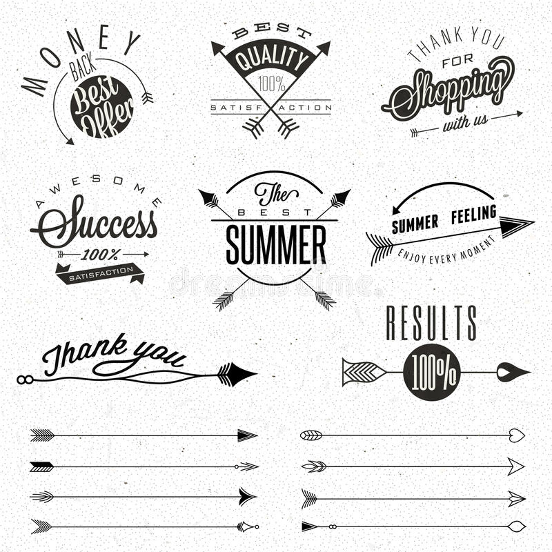 Set Of Symbols For Best Quality Stock Vector Illustration Of