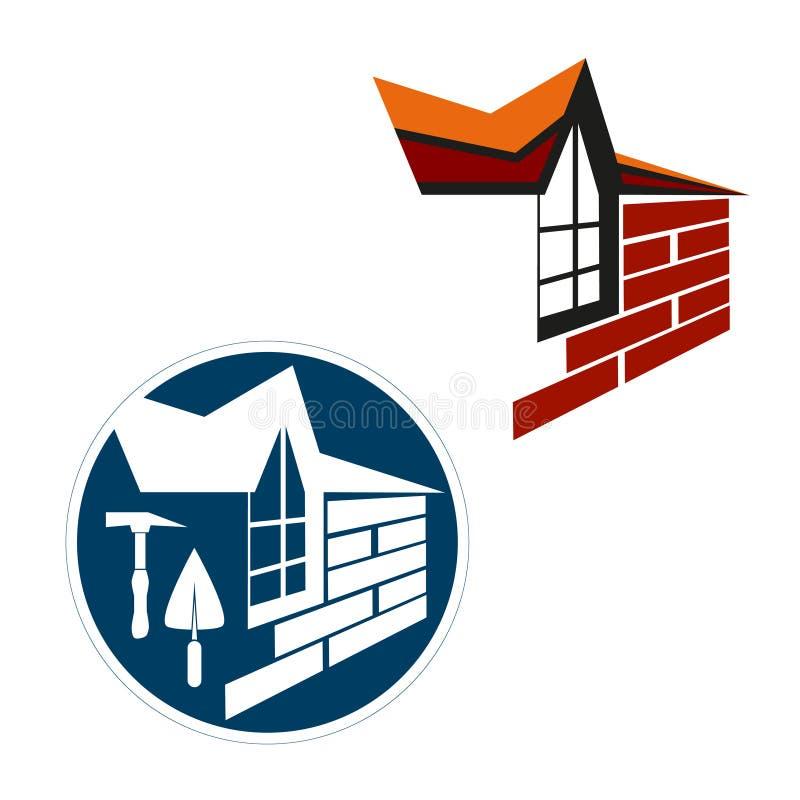 Set of symbols for construction vector illustration