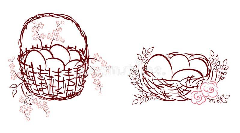 Download Set -- symbols of Easter stock vector. Image of illustration - 23889157