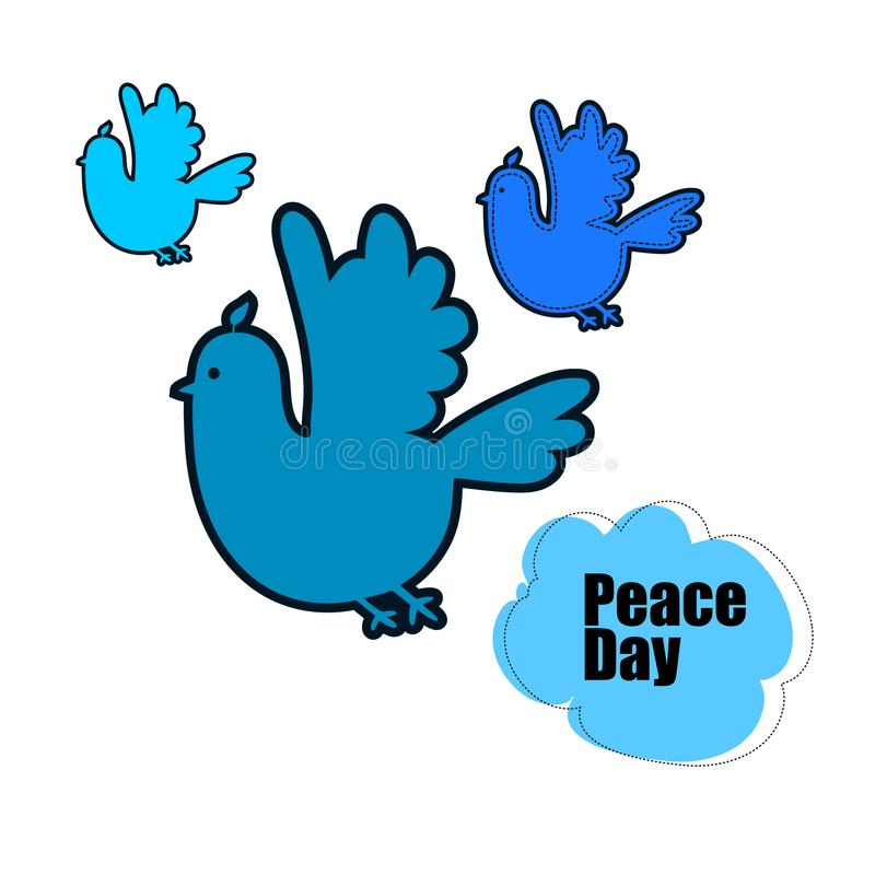 Set Of Symbols For The International Day Of Peace Stock