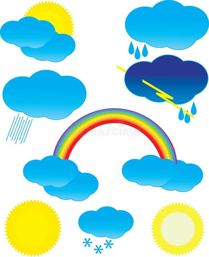Set symbols of weather stock photography