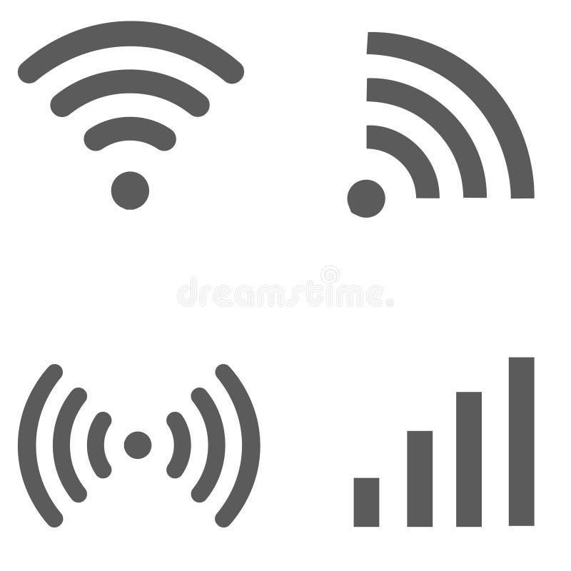 Set szare sieci ikony obrazy stock