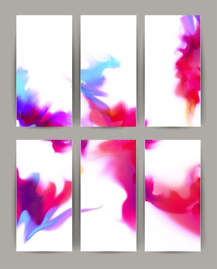Set sześć Lekkich eleganckich projektów sztandarów ilustracja wektor