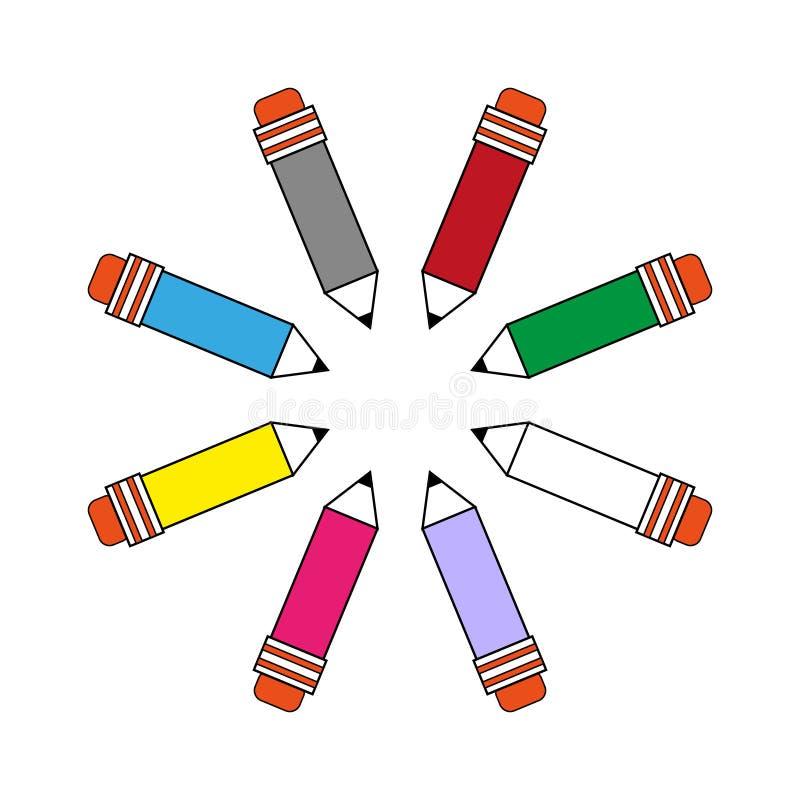 Set szkolny klerykalny ołówka wizerunek royalty ilustracja
