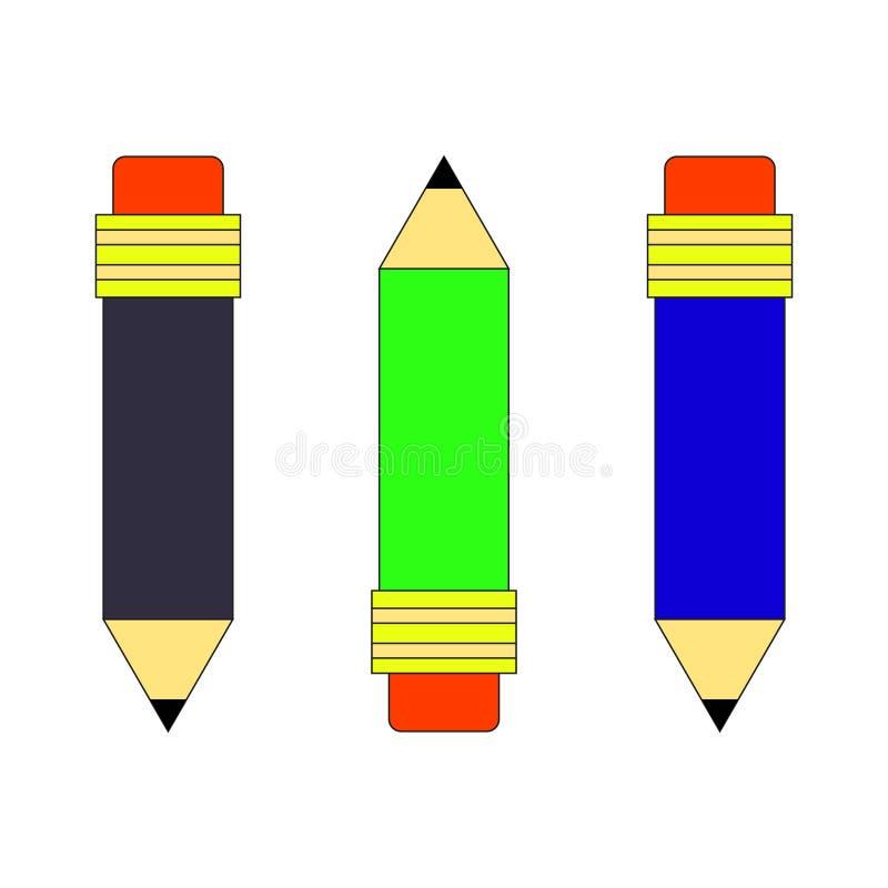 Set szkolny klerykalny wektorowy ołówka wizerunek ilustracja wektor