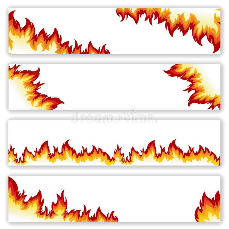 Set sztandaru płomień ilustracji