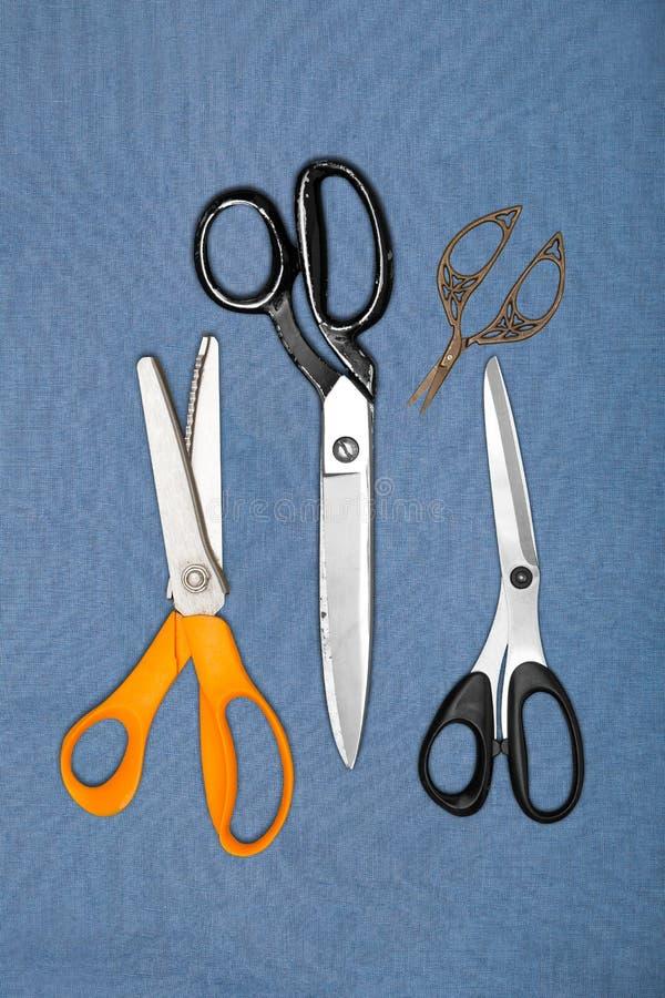 Set Szwalni nożyce i strzyżenia zdjęcie royalty free