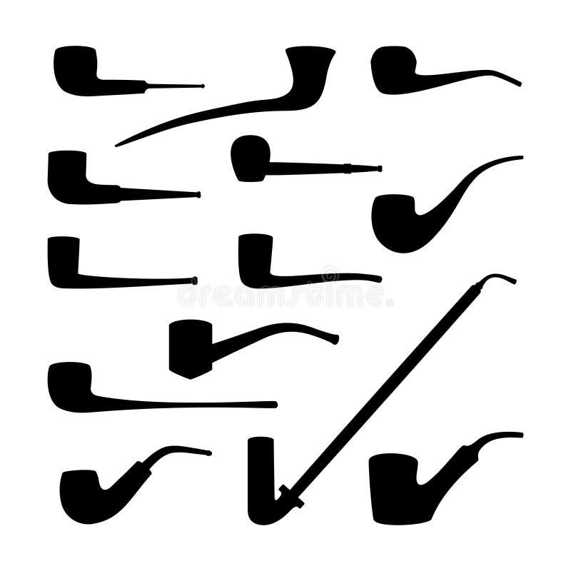 Set tabaczne drymby inkasowe ilustracji