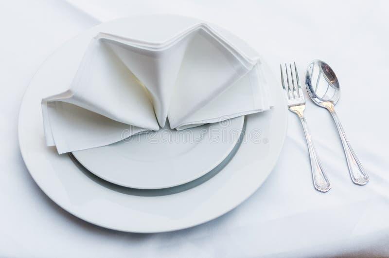 set table 免版税库存图片
