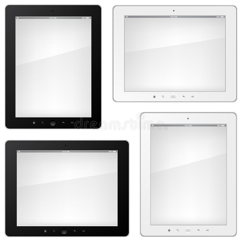 Set of Tablet PC. Isolated on White Background royalty free illustration