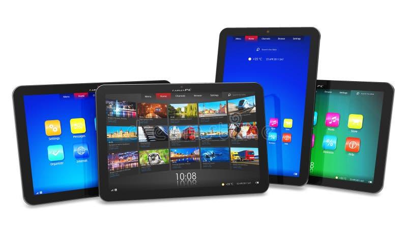 Set Tablettecomputer lizenzfreie abbildung