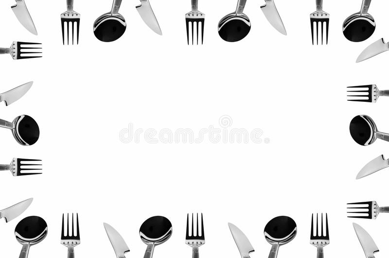 Set of Tableware stock photography