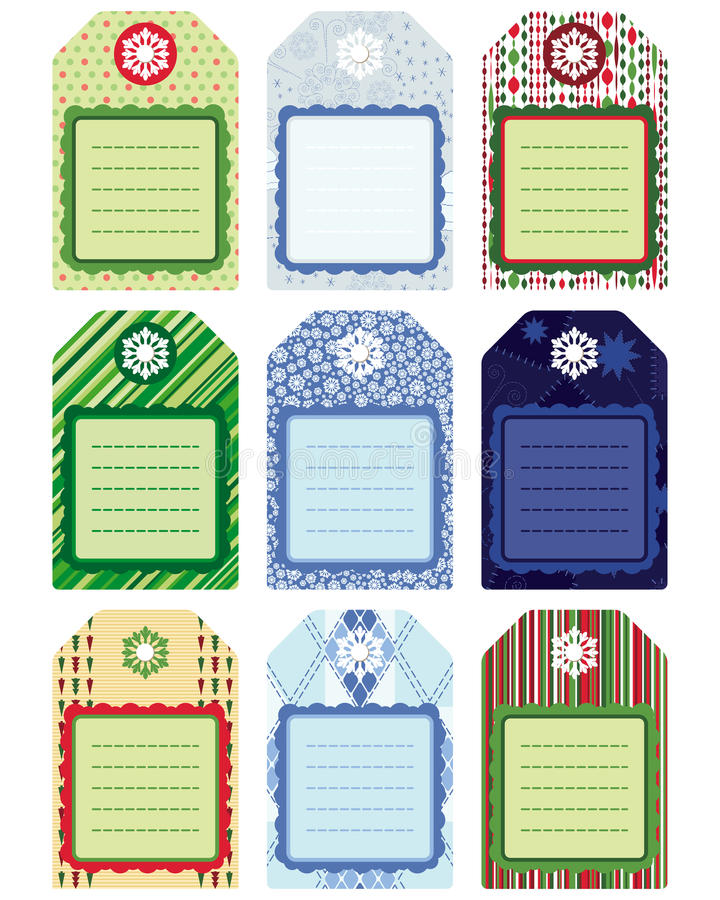 Set of Tag, design elements. Illustration for your royalty free stock images