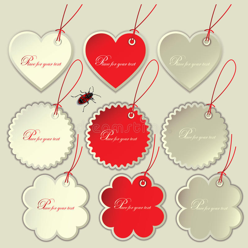 Download Set Of Tags To The Festive Valentine's Day. Stock Vector - Image: 26043738