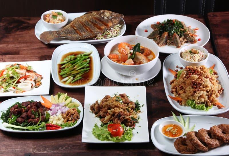 Set Tajlandzki karmowy menu zdjęcie royalty free