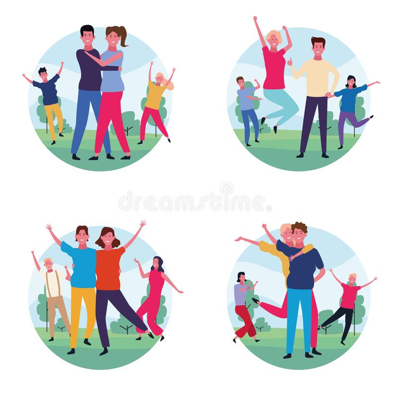 Set tana avatar ludzie ilustracji
