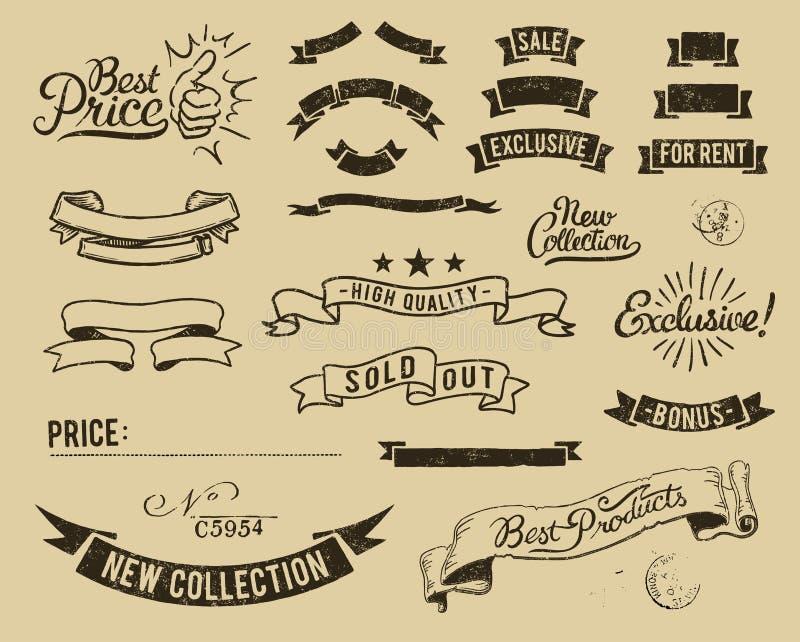 set tappning för symbolsförsäljning royaltyfri illustrationer
