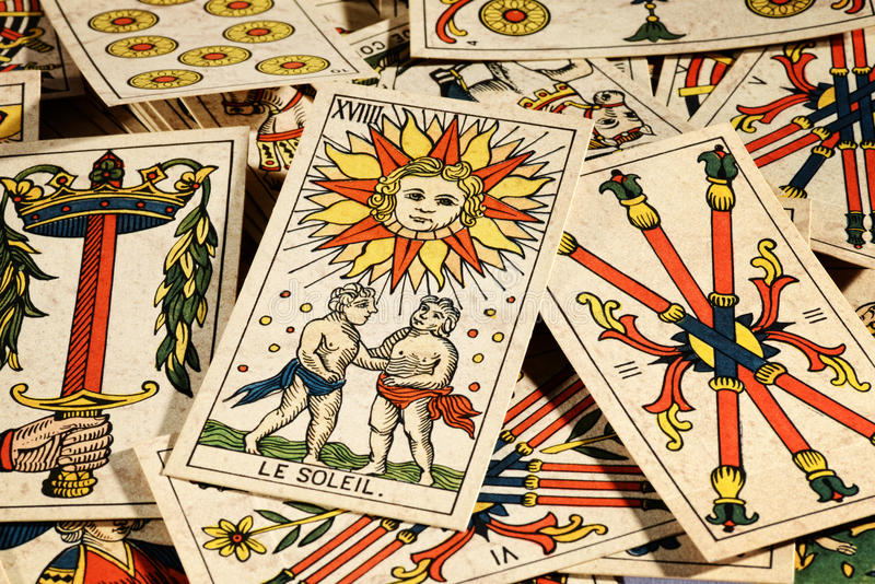 Set of tarot cards royalty free stock photography