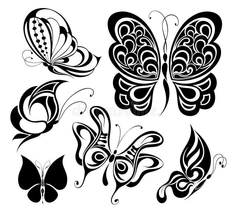 Download Set of tattoo butterflies stock vector. Image of delicate - 18321201