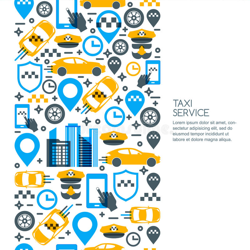 Set of taxi service banner, flyer, poster design template. Call taxi concept. vector illustration