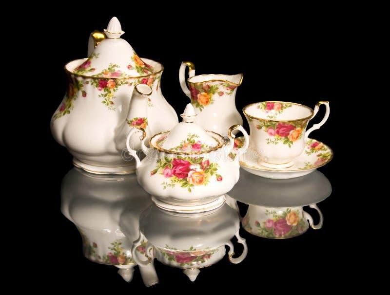 set tea för härlig porslinfine royaltyfri bild