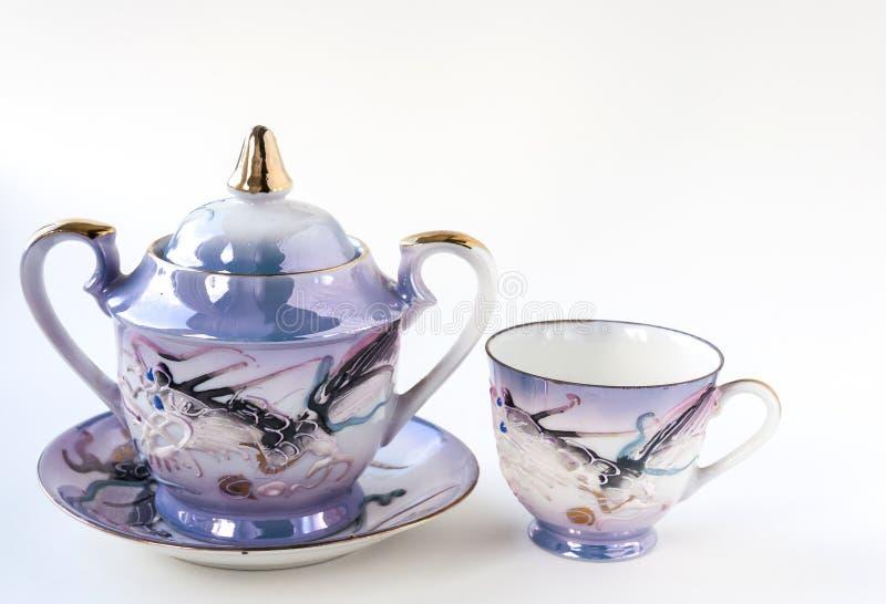 set tea för japan arkivbild