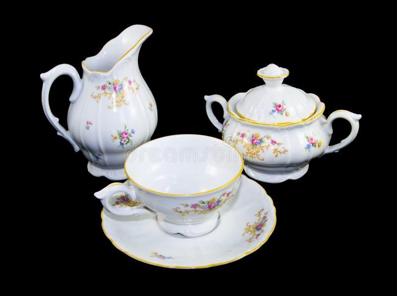 set tea för porslin royaltyfri fotografi