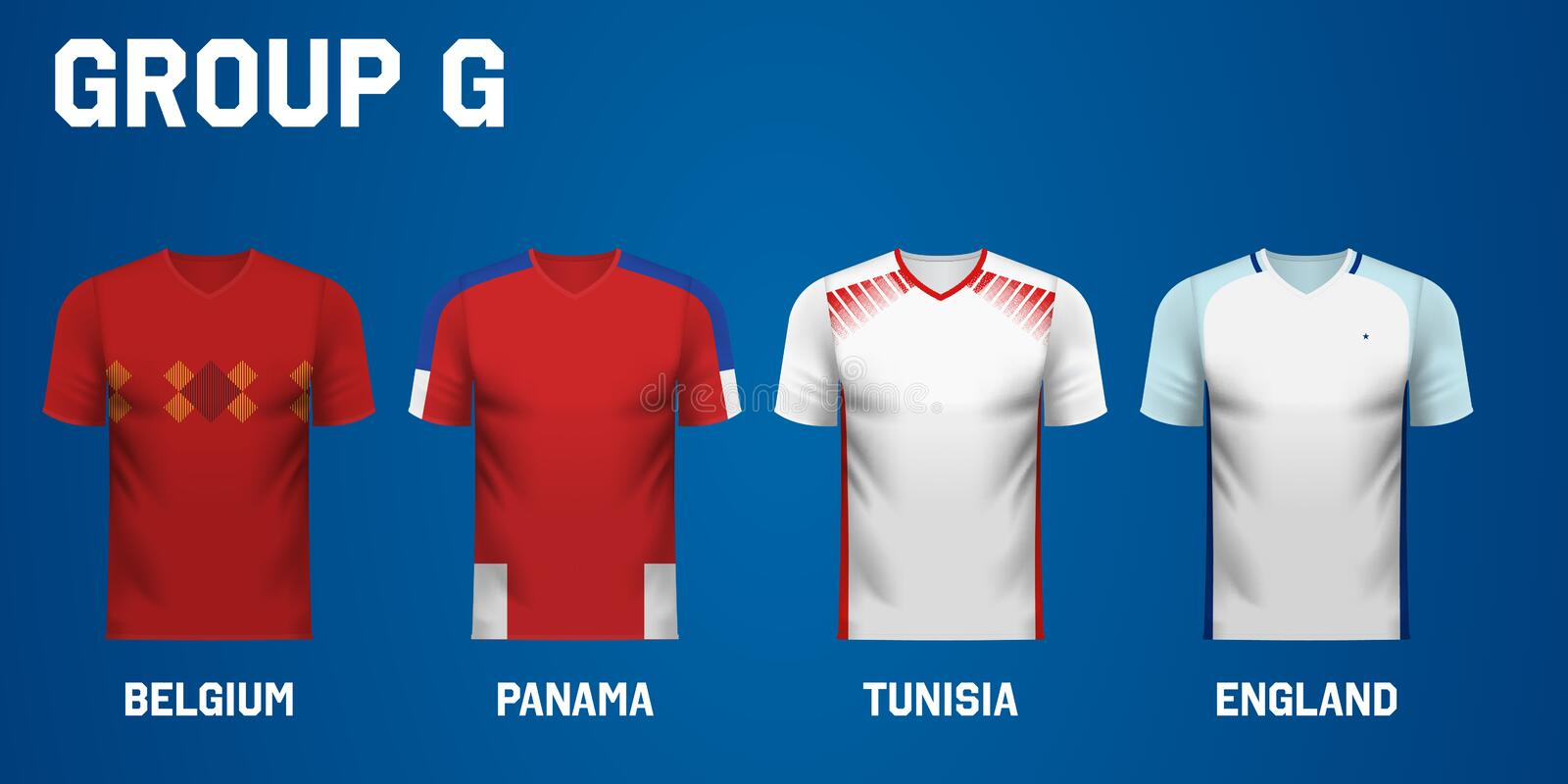 new style af15f f4508 Panama National Team Jersey Fan Apparel Stock Illustration ...