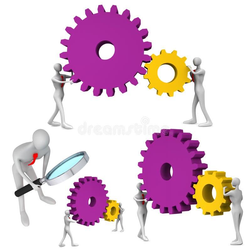 Download Set of teamwork icons stock illustration. Illustration of oversee - 26475983