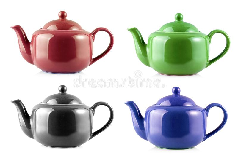 The set of Teapot Kettle Isolated On White Background. Set of Teapot Kettle Isolated On White Background stock photo