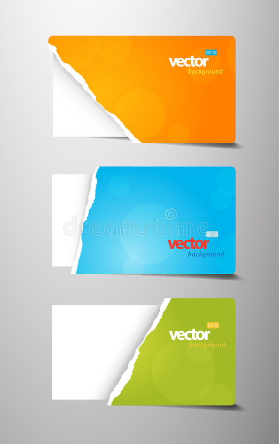Download Set Of Teared Gift Cards. Royalty Free Stock Photography - Image: 21274227