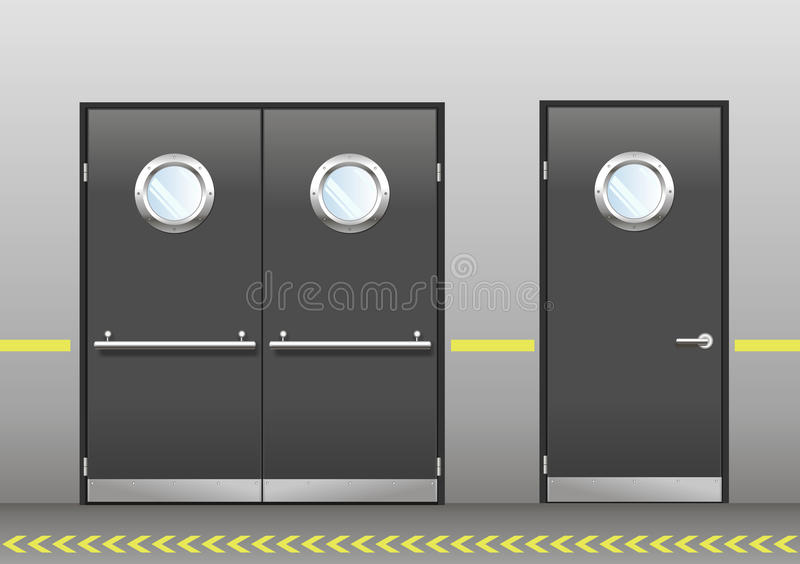 Download Set Of Technical Doors With Portholes Stock Vector - Illustration of elevator double  sc 1 st  Dreamstime.com & Set Of Technical Doors With Portholes Stock Vector - Illustration of ...