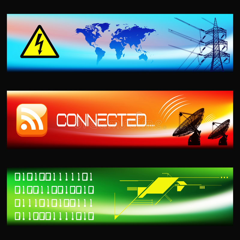 Download Set Of Technological Banners -EPS Vector- Stock Vector - Illustration of industrial, connected: 8867377