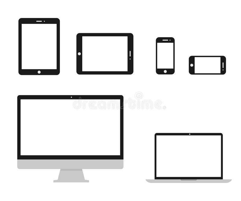 Set technology devices icon - vector. Set technology devices icon - stock vector vector illustration