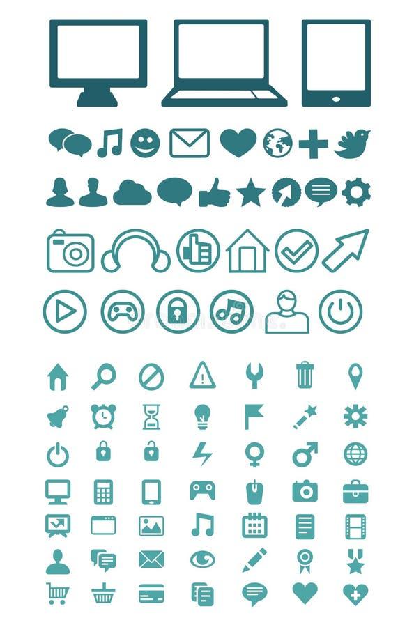 Set Of  Technology Icons Stock Image