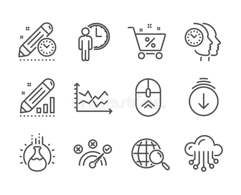Set of Technology icons, such as Chemistry experiment, Swipe up, Time management. Vector. Set of Technology icons, such as Chemistry experiment, Swipe up, Time vector illustration