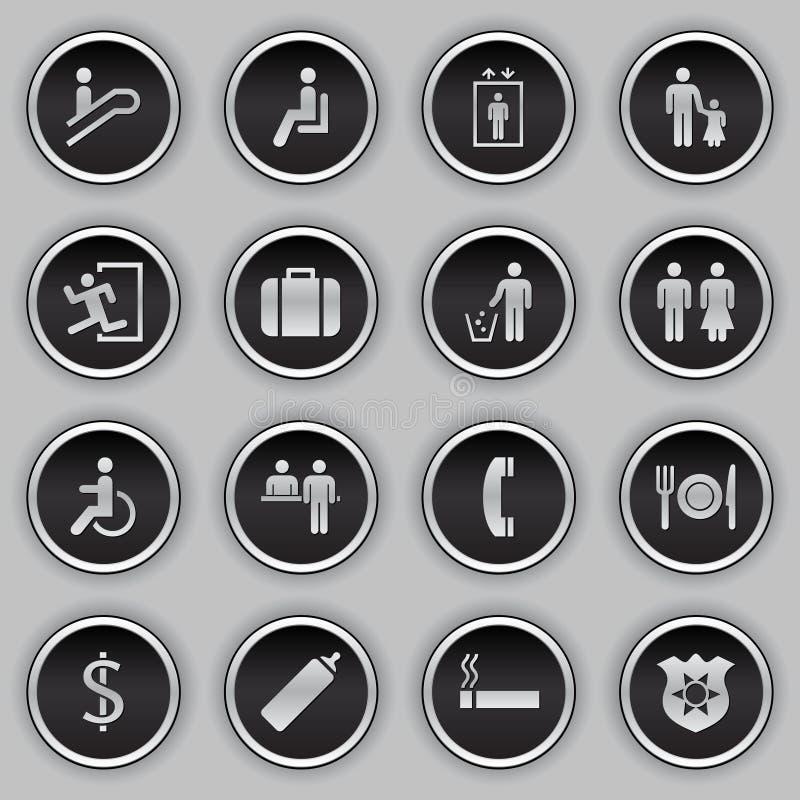set tecken för byggnadssymbol fotografering för bildbyråer