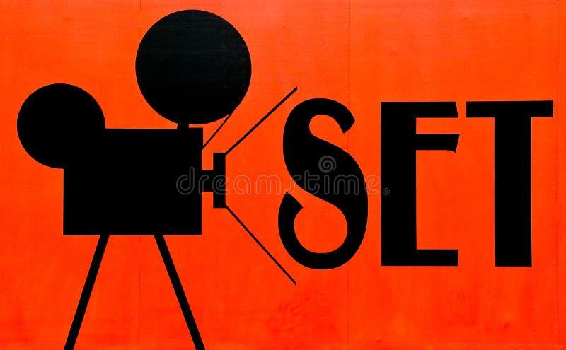 set tecken för film fotografering för bildbyråer