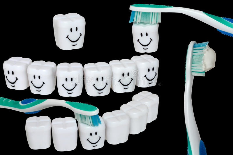 Set of teeth cleaning royalty free stock photos