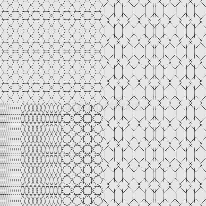 Set tekstury metal kratownicy na białym tle i siatki royalty ilustracja