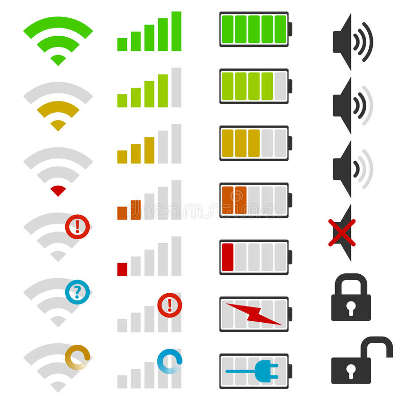 Set telefon komórkowy ikony ilustracji